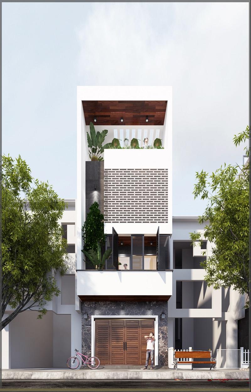 Thiết kế kiến trúc mặt tiền công trình Hải Phòng