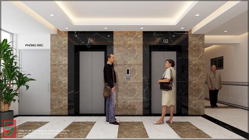 Thiết kế sảnh chung cư CT4C- X2