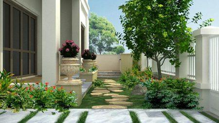 Bước dạo sân vườn biệt thự Văn Khê – Hà Nội